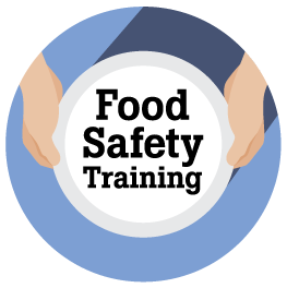 Image of Food Safety Training Logo with blue ring border